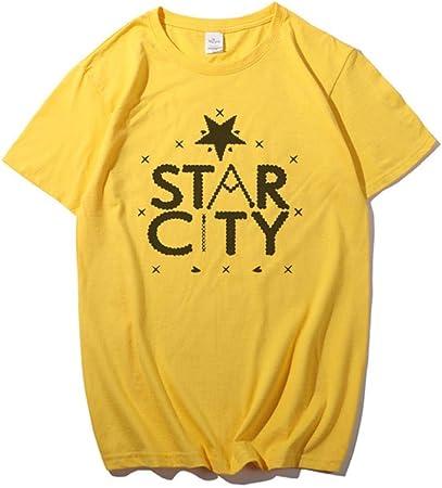 YANGPP Camiseta Estampada para Mujer Camiseta Negra Unisex ...