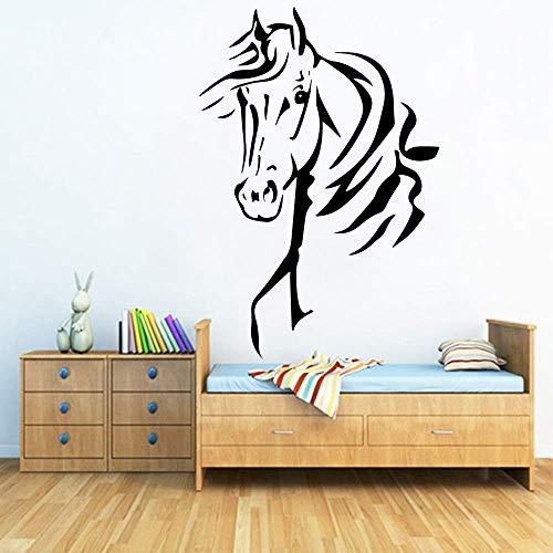 Divertido caballo vinilo etiqueta de la pared decoración para el hogar Stikers dormitorio Nursery decoración pegatina decoración para el hogar 43x63 cm