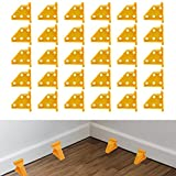 Flooring Spacers,Laminate Wood Flooring Tools,Compatible w/Vinyl Plank, Hardwood & Floating Floor Installation etc,Hardwood Flooring w/1/3 &1/4 Gap,Special Triangle Stay in Place (30, Yellow)