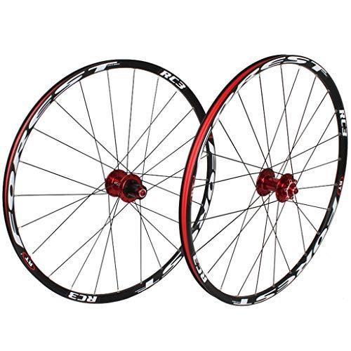 Montaña Juego De Ruedas De Bicicleta 26, MTB Ruedas De Ciclismo Freno De Disco Rodamientos Sellados 8 9 10 11 Velocidad Negro Deportes (Color : D, Size : 26inch)
