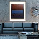 FANYUEART Mark Rothko Cuadros De ParedImpresión del Cartel Lienzo Abstracto Pintura sobre Lienzo Arte de la Pared para la Sala de Estar Azul decoración del hogar 80x96cm 31'x38' (sin Marco)