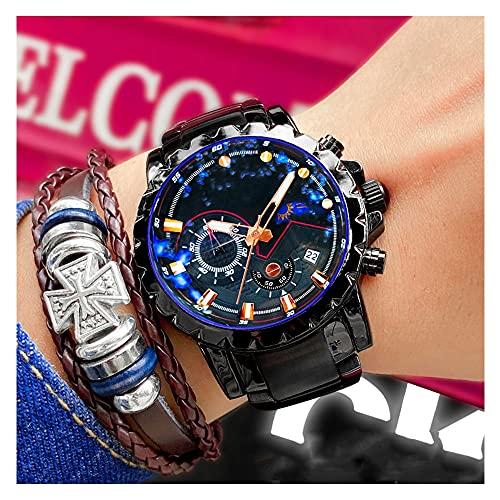 Reloj Digital Hombre Mujer,3ATM Impermeable Esfera Grande,Deportivo Relojes De Pulsera Unisex,con Retroiluminación LED,Resistente Al Agua (Color : Blue)