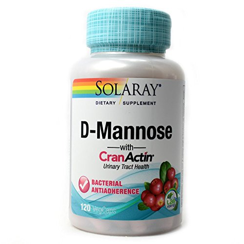 Solaray D-Mannose w/CranActin Cranberry Extract 1000mg w/VIT C   Healthy Urinary Tract Support (120 CT)