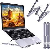 Soporte para ordenador portátil, plegable, portátil, ventilado, elevador, 6 niveles, ajustable, ergonómica, con ventilación de aire, compatible con MacBook Air, Pro, Dell, 10-15.6', ABS+silicona