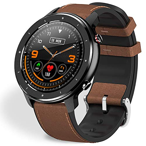 """Fullmosa Smart Watch for Android iOS,Fitness Tracker with Heart Rate Monitor,Activity Tracker with 1.3"""" Full-Touch Screen,IP68 Waterproof Smartwatch Compatible Samsung iPhone,Watch for Men Women"""
