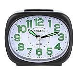 JuBos Voyage Réveil Table de Chevet Silencieux Horloge Alarme Veilleuse Fonctions Snooze Usage Domestique Enfants Compact Analogique Réveil