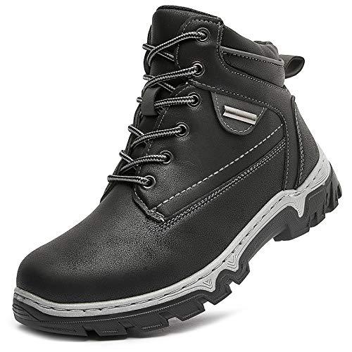 hash bubbie Women Mid Hiking Boots Outdoor Waterproof Non Slip Backpacking Trekking Walking Trails(Off Black.US11)