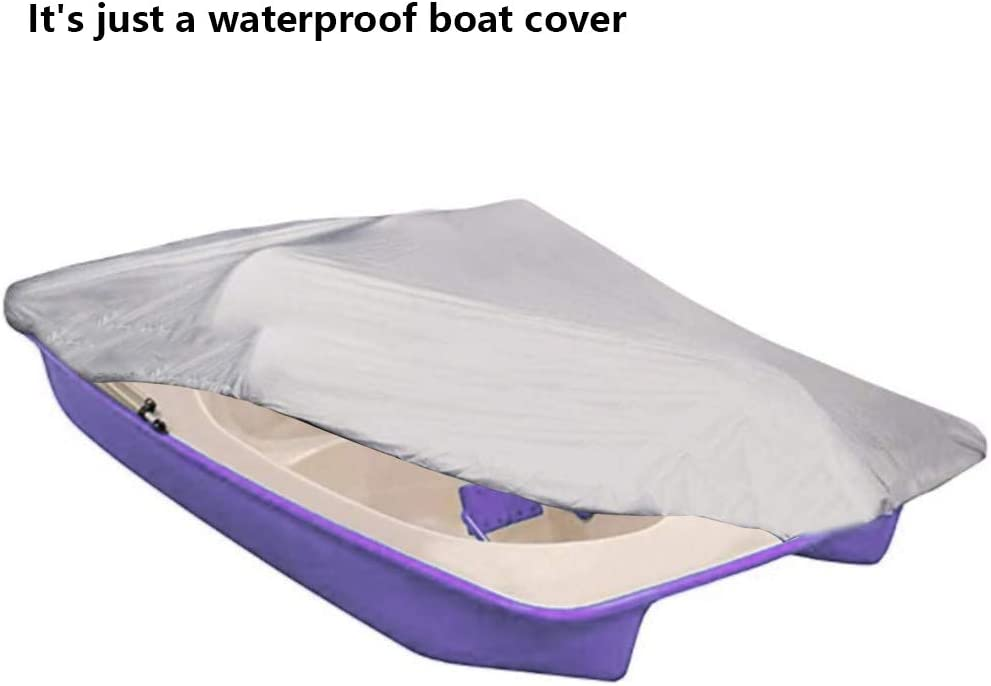 Tearproof All Weather Outdoor Storage Cover for 3//5 Person Pedal Boat Heavy Duty Oxford Waterproof Fabric Boat Protector with Elastic Cord KOET Pedal Boat Cover