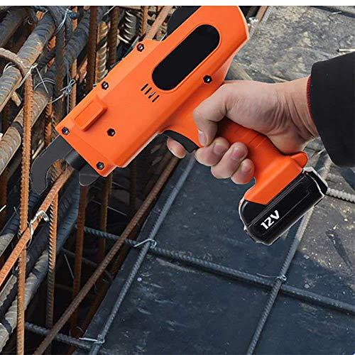 Crtkoiwa - Máquina de atar las barras de armazón recargable, eléctrica, bolsa de herramientas de nivel de armazón y herramienta de enlace eléctrica portátil 4500 mAh, apto para 30-60 mm (naranja)