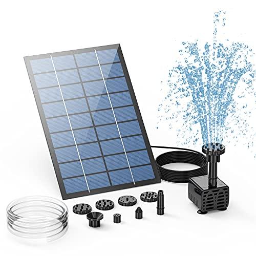 AISITIN 2.5W Solar Fountain Pump, DIY Outdoor Solar Water Fountain Pump...
