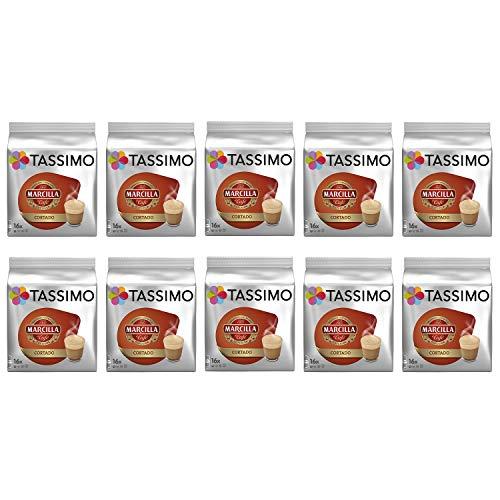 Tassimo Marcilla Cortado Cápsulas de café- 10 paquetes (160 bebidas)