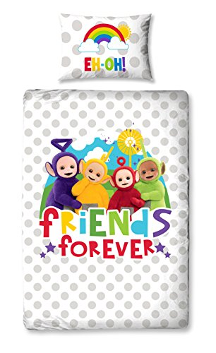 Teletubbies 'Playtime' Single Duvet Set - Large Print Design