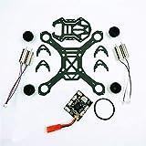 XHUENG DIY F110S FPV Racing Drone 110Mm Kit de Marco de Fibra de Carbono para Mini F3 Controlador de Vuelo de barómetro Cepillado 1S 8520 RC Motor W Terminal (Color : Set Without Receiver)
