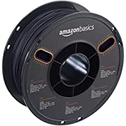AmazonBasics - PLA 3D-Drucker Filament, 1,75 mm, Schwarz, 1 kg Spule