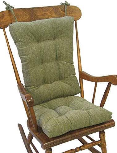 Best The Gripper Non-Slip Polar Jumbo Rocking Chair Cushions, Jade
