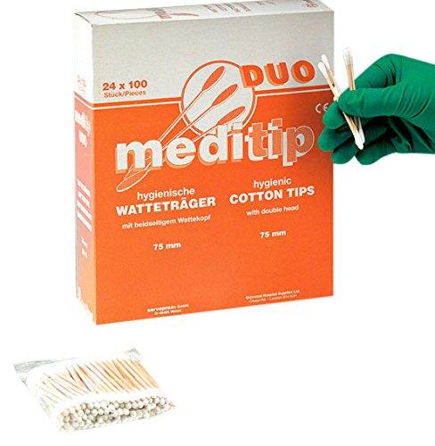 Ouate de Medi Tip Duo Support avec tête recto verso, 24 x, 100 pcs