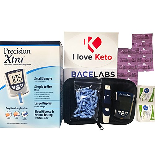 Precision Xtra Blood Ketone Testing Kit- Precision Xtra Blood Ketone Monitoring System+10...