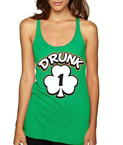 ALLNTRENDS Women's Tank Top Drunk 1-6 St Patrick's Day (M, Drunk 1)