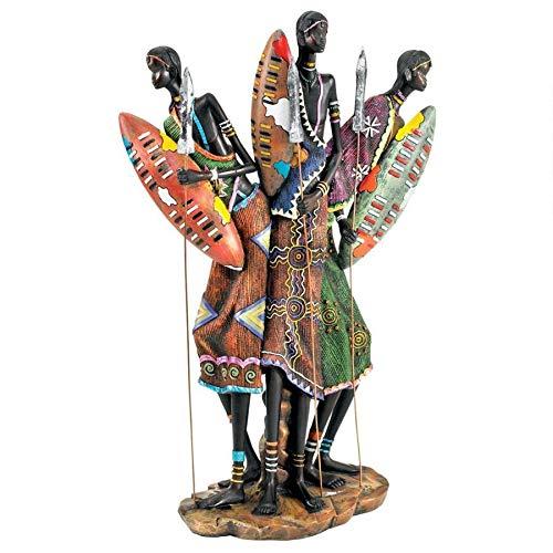 Design Toscano 16 in. Zulu Warriors of Kenya