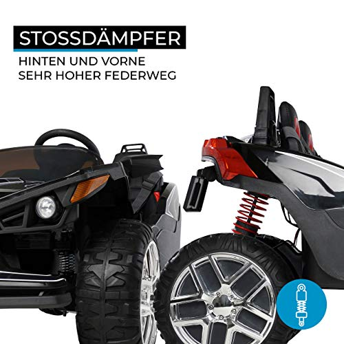RC Auto kaufen Kinderauto Bild 4: Actionbikes Motors Kinder Elektroauto GT Super Speed JC888 – 4x40 Watt Motor – 2-Sitzer - Eva Reifen – Allrad – Kinderauto (Schwarz)*