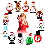 Wind Up Toys Christmas Stocking Stuffers Advent Calendar Gift for Kids, 12 Pack Assortment Small Toys For Kids Toddlers, Windup Toys Bulk For Christmas Advent Calendar Party Favor Goody Bag Fillers