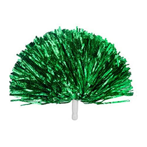 Dkhsy Pompones de Papel de Aluminio metlico con Asas de plstico, 2 Unidades, Pompones de Animadora, Pompones Divertidos, Accesorios para Disfraz de Animadora para Fiestas, Baile, Deportes