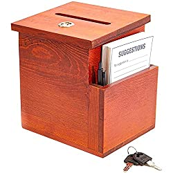 commercial Jewile wooden proposal box with card (brown, 50 proposal cards) wooden suggestion box
