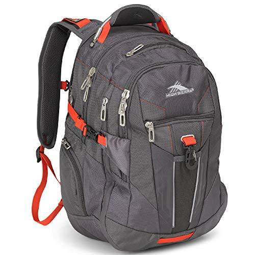 High Sierra XBT-Business Laptop Backpack, Mercury/Crimson, One Size