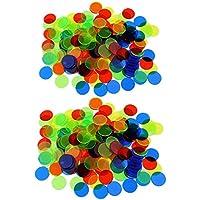MagiDeal 200x Fichas Bingo Chip Color Mezclado para Juegos