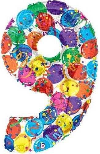 tienda de venta en línea Large  9 Balloons and Streamers 40 40 40 Mylar Balloon by Betallic  envío gratuito a nivel mundial