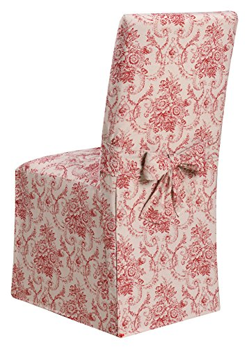 """Mejor Surefit Duck Long Solid Dining Chair Slipcover-One Piece-100% Cotton – Up to 42"""" Tall-Machine Washable, Dining Chair, Navy crítica 2020"""