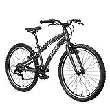 ollo Bikes Bicicleta Infantil 24 Pulgadas a Partir de 8 años, para niños y niñas, Ligera, Cambio de Marchas – Negro