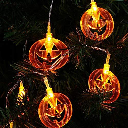 Luces de hilo de calabaza de Halloween, 3M 20 LED Luces de...