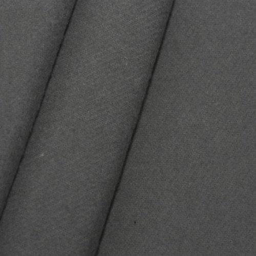 STOFFKONTOR Bühnen Molton Stoff B1 schwer entflammbar - 300 cm Meterware, Anthrazit - für Wandverkleidungen, Eventbereich, Vorhänge, Messebau, Dekorationen jeder Art