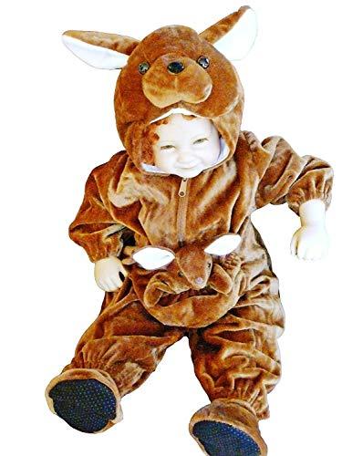 Seruna Känguru-Kostüm, F53 Gr. 80-86, für Klein-Kinder, Känguru-Kostüme Babies, Kinder-Kostüme Fasching Karneval, Kinder-Karnevalskostüme, Kinder-Faschingskostüme, Geburtstags-Geschenk