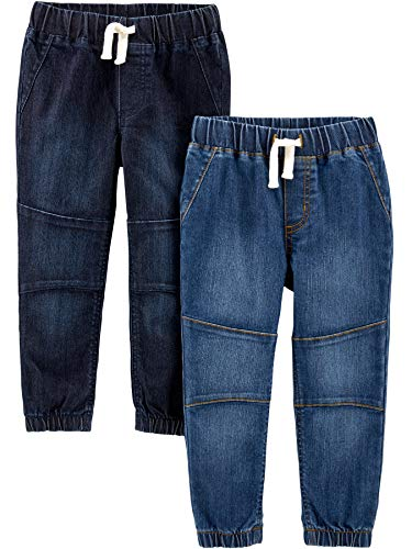 Simple Joys by Carter's 2-pack Denim Joggers Hose, Heritage Rinse/Oceana Blue, 4T