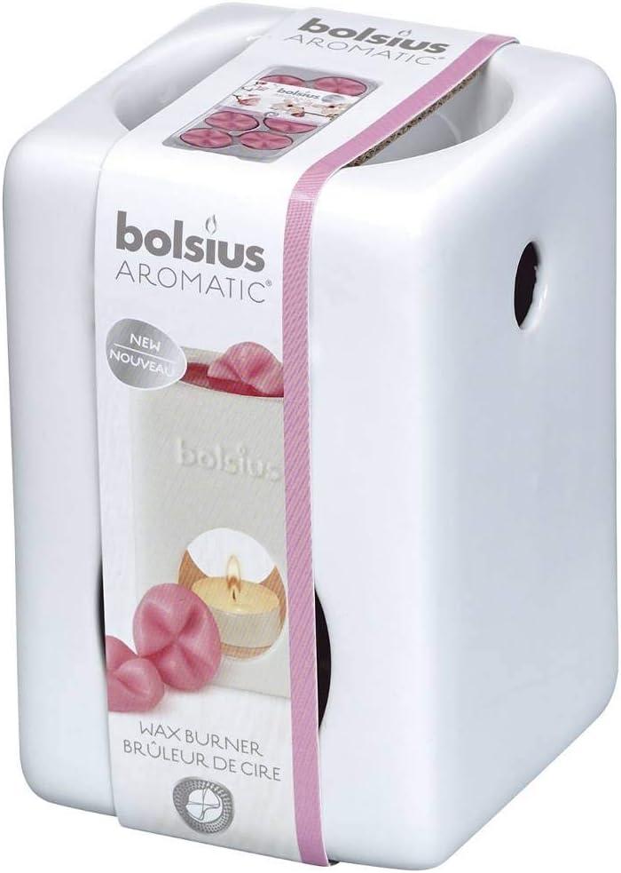 Bolsius Burner 5 popular Ceramic White Product 13.7 9.7 10.2 x Boston Mall Size:
