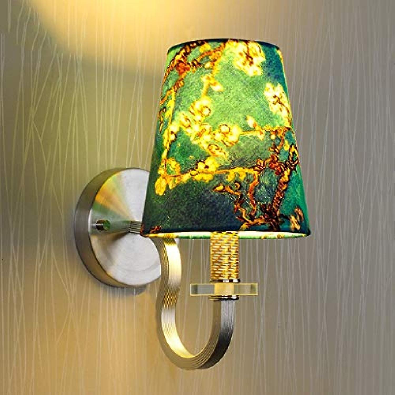 BAIJJ Modern Minimalistisches Wohnzimmer Gemütliches Schlafzimmer Nachttischlampe Wandlampe Restaurant Arbeitszimmer Korridor für die Eingangstreppe Wand (Farbe  Himmelblau)