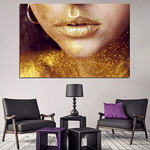 Puzzle 1000 Piezas Mujer Sexy Africana con Maquillaje Dorado y Labios Dorados Puzzle 1000 Piezas Juego de Habilidad para Toda la Familia, Colorido Juego de ubicación.50x75cm(20x30inch)