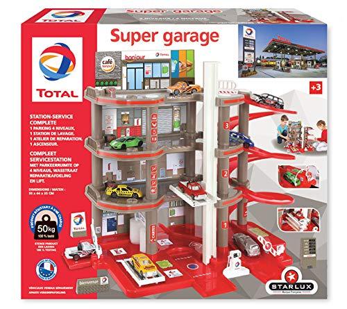 Total Super Garage Station Komplett-Service ab 3 Jahre, EU-Herstellung, 401006, Rot / Grau / Schwarz