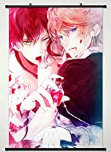 Wall Scroll Poster Fabric Painting For Anime Diabolik Lovers More Blood Sakamaki Ayato & Sakamaki Shu 031 S