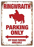 Ringwraith Parking Only 注意看板メタル安全標識注意マー表示パネル金属板のブリキ看板情報サイントイレ公共場所駐車