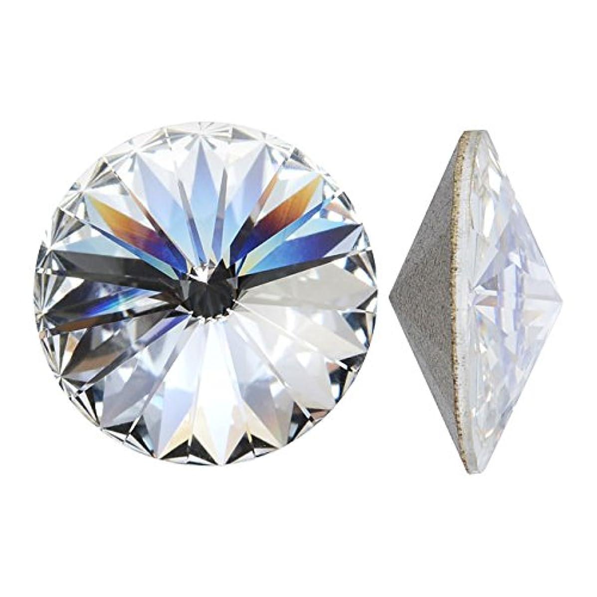 Swarovski Crystal, #1122 Rivoli Fancy Stones 14mm, 2 Pieces, Crystal SF