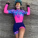 Camiseta de ciclismo para mujer Equipo de montar en bicicleta uniforme de bicicleta triatlón con traje de traje de baño conjunto (Color : 1, Size : Large 20mm)