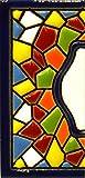 """Insegna con numeri e lettere fatte di piastrelle di ceramica policroma, dipinte a mano con la tecnica """"cuerda seca"""", nomi indirizzi e segnaletica. Testo personalizzabile. Disegno MOSAICO MINI 7,3 cm x 3,5 cm. (MARGINE """"CENEFA"""")"""