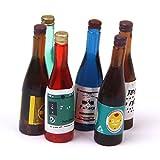 SODIAL 6 pieces jeu de Bouteilles de vin miniature de maison de poupee de l'echelle 1:12