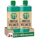 Love Nature Universal-Waschmittel Cactus Leaves, 40 Waschladungen, nachhaltiges Flüssigwaschmittel,...