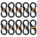 Yue Mosquetón en forma de S, 10 unidades de mini cierres de metal con hebilla pequeña en forma de...