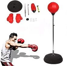 Hauteur r/églable Gants MMA Punching Ball POWRX Sac de Boxe pour Adultes et Adolescents