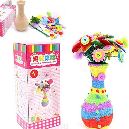 DIY Florero Crafting Kit Crafting Kit para Kids Manualidades De Florero Niños Actividades Creativas Florero Y Kit Fieltro para Niñas